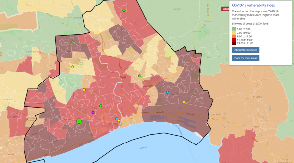 Local Insights map of grants made